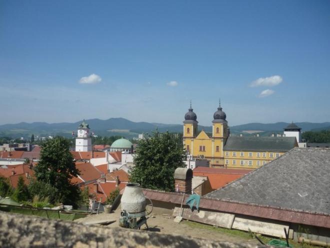 Cestou na hrad, pohled na náměstí