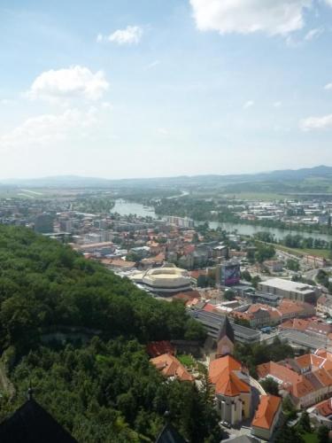 Výhled na řeku Váh