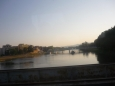 Pohled z autobusu na Piešťany