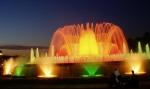 Magická fontána Montjuic, stejně jako přilehlé výstavní pavilony, byla postavena při příležitosti světové výstavy Expo v Barceloně v roce 1929.