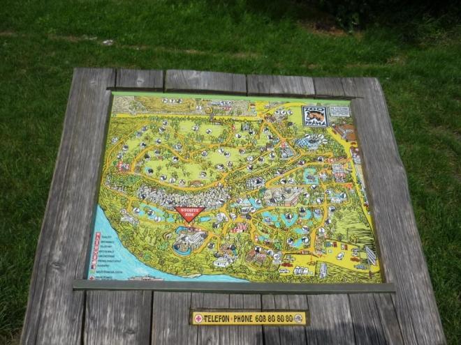 Mapa pražské ZOO