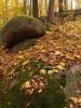 Kolem jsou krásně zaoblené kameny. O Mehelníku se tradují i dvě pověsti o tamním pokladu, které vznikly v 19. stol a jedna ze stejné doby o mehelnických loupežnících.
