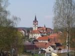 Pohled na volenický kostel