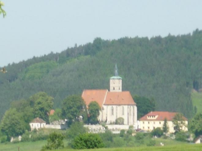 Nezamyslický kostel zblízka